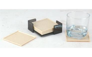 Tea Coaster Square Plastic Moulding With acrylic Holder For Coasters Set of 6 PCS