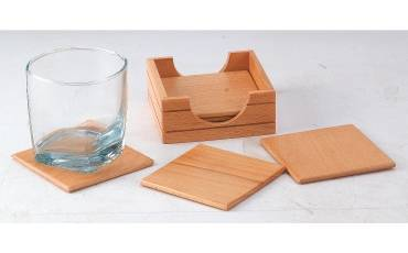 Coaster Wooden Square With older For Coasters Set of 6 PCS