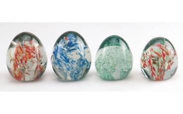 Paper Weight Glass Egg/Lattu Shape (Big/Small)