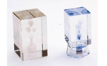 Paper Weight Crystal Glass Clear With Self Designed 8x5 CM