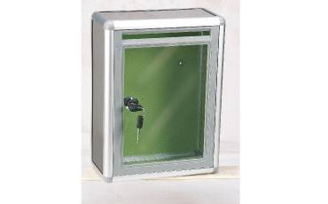 First Aid Box Suggesion/Donation Box 368 Aluminum Plastic With Lock 11x8.5x4 Inch