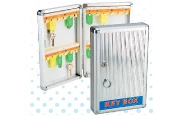 First Aid Box Key Chain Box Aluminum & Plastic With Lock For 24 & 48 Keys 12.5x8.25x2.5 Inch